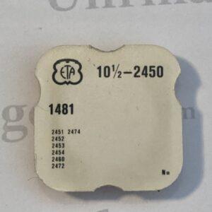 ETA Cal. 2450 part 1481.